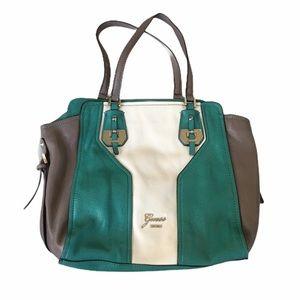 Large Guess Faux Leather Shoulder Bag